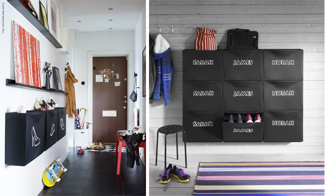 un rangement pour chaussures sur mesure mademoiselle. Black Bedroom Furniture Sets. Home Design Ideas