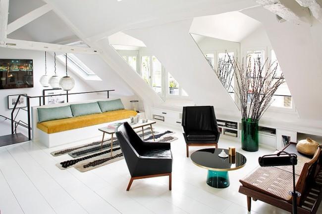 Home tour un duplex parisien by sarah lavoine mademoiselle claudine le blog - Miroir sarah lavoine ...