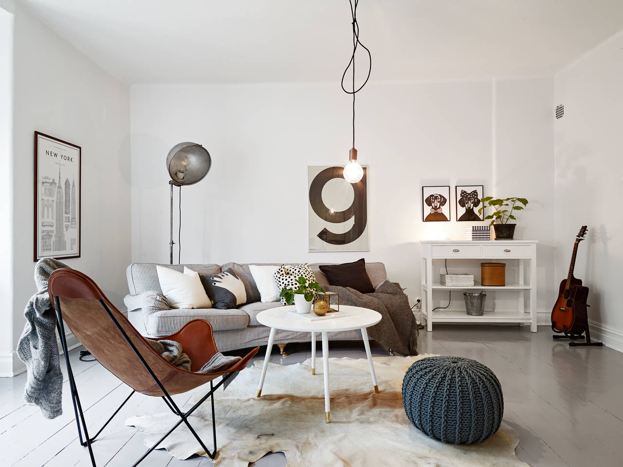 Home tour un appartement cocooning mademoiselle for Wohnzimmer vintage modern