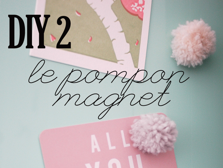 diy cadeau de no l 2 le magnet pompon mademoiselle. Black Bedroom Furniture Sets. Home Design Ideas
