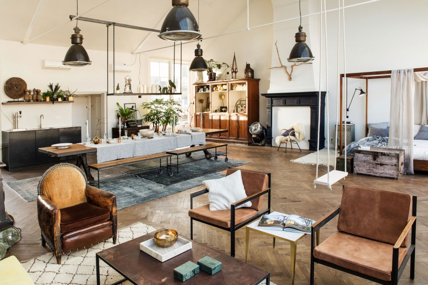 AppartementKinfolk lumineux coin salon