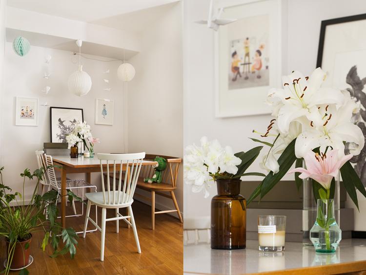appartement-vintage-feminin-salle-a-manger-fleurs-mademoiselle-claudine