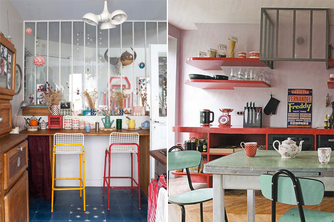Inspiration cuisine r tro for Decoration de cuisine retro