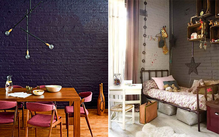 un mur en briques oui mais peint mademoiselle claudine le blog. Black Bedroom Furniture Sets. Home Design Ideas