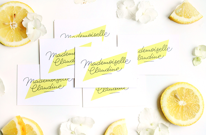 cartedevisitemoo-mademoiselle-claudine--jaune-citron