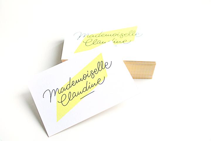 Carte De Visite Moo Mademoiselle Claudine Modele Luxe