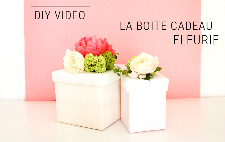 diy la boite cadeau fleurie video mademoiselle claudine le blog. Black Bedroom Furniture Sets. Home Design Ideas
