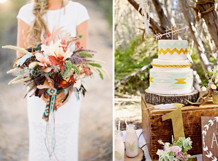decoration-navajo-mariage-bouquet-de-mariee-gateau-mademoiselle-claudine-