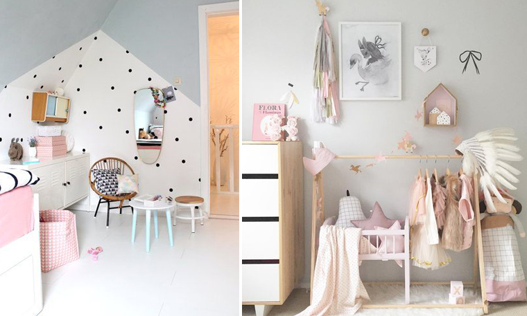 chambre bebe fille scandinave design de maison. Black Bedroom Furniture Sets. Home Design Ideas