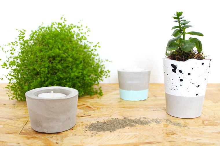 diy le bougeoir en ciment video mademoiselle claudine. Black Bedroom Furniture Sets. Home Design Ideas