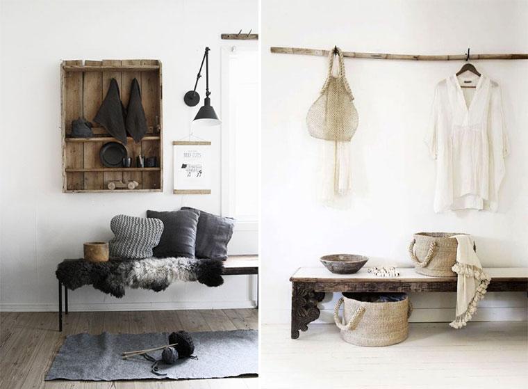 inspiration-decoration-entrée-nature-peau-de-bete-bois-madmeoiselle-claudine-
