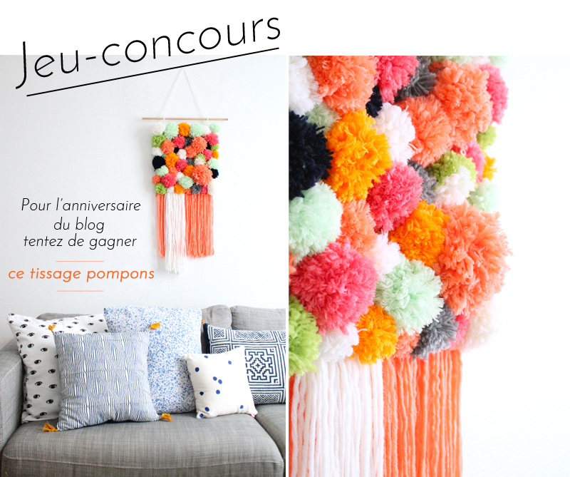 anniversaire-blog-mademoiselle-claudine-tissage-pompons