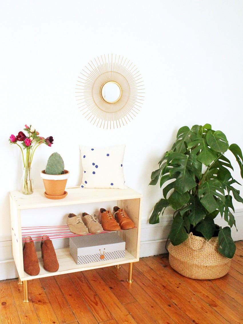 diy meuble chaussures original mademoiselle claudine. Black Bedroom Furniture Sets. Home Design Ideas