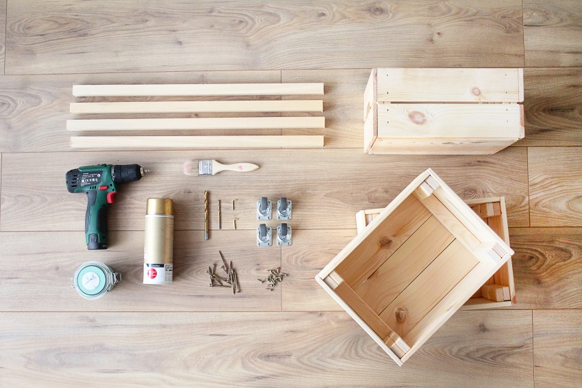 diy une desserte avec des caisses en bois ik a. Black Bedroom Furniture Sets. Home Design Ideas