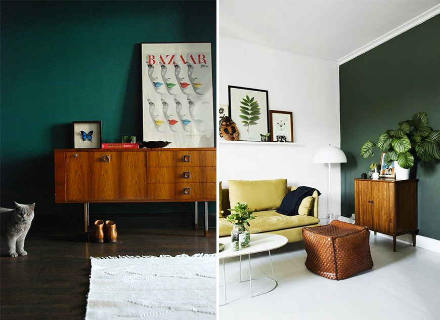 tendance couleur le vert fonc mademoiselle claudine le blog. Black Bedroom Furniture Sets. Home Design Ideas