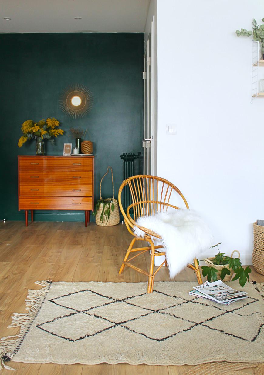 mur vert foret salon mademoiselle claudine