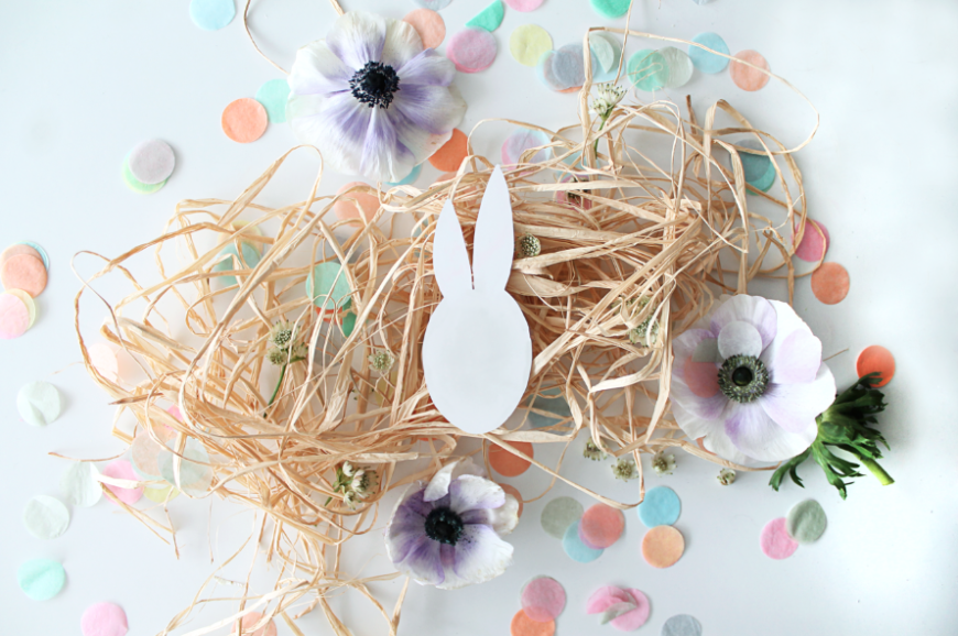 diy marque place paques lapin mademoiselle claudine