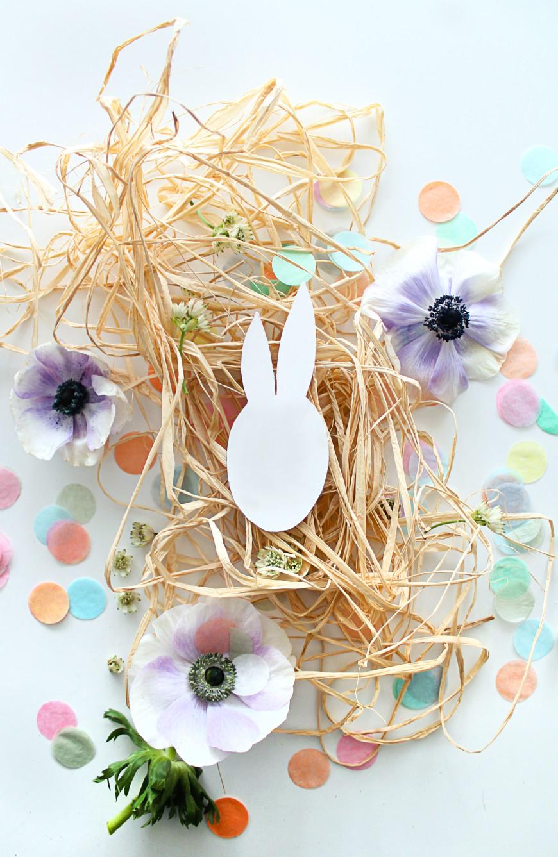 lapin decoraiton table de paques mademoiselle claudine