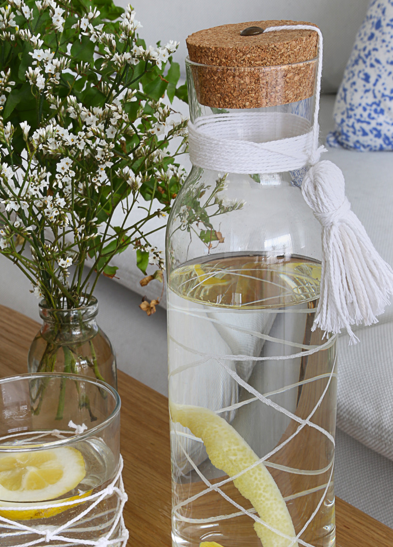 diy carafe boheme pour lete gravure sur verre mademoiselle claudine