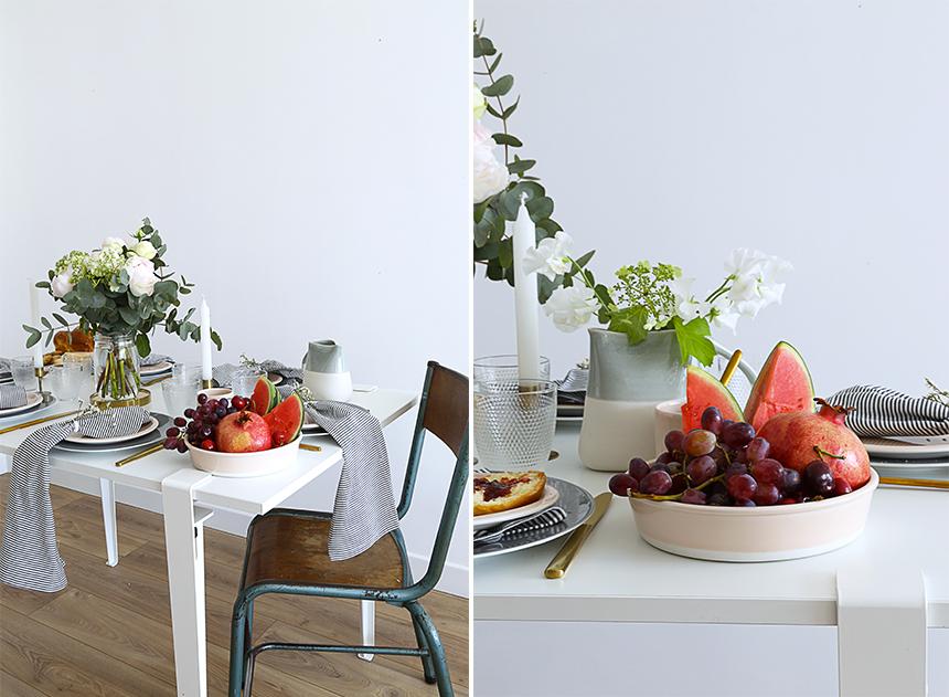 une decoration de table pour la fete des meres obsigen. Black Bedroom Furniture Sets. Home Design Ideas