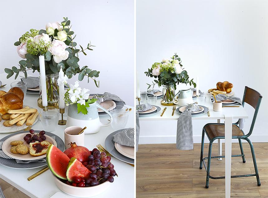 une decoration de table pour la fete des meres. Black Bedroom Furniture Sets. Home Design Ideas