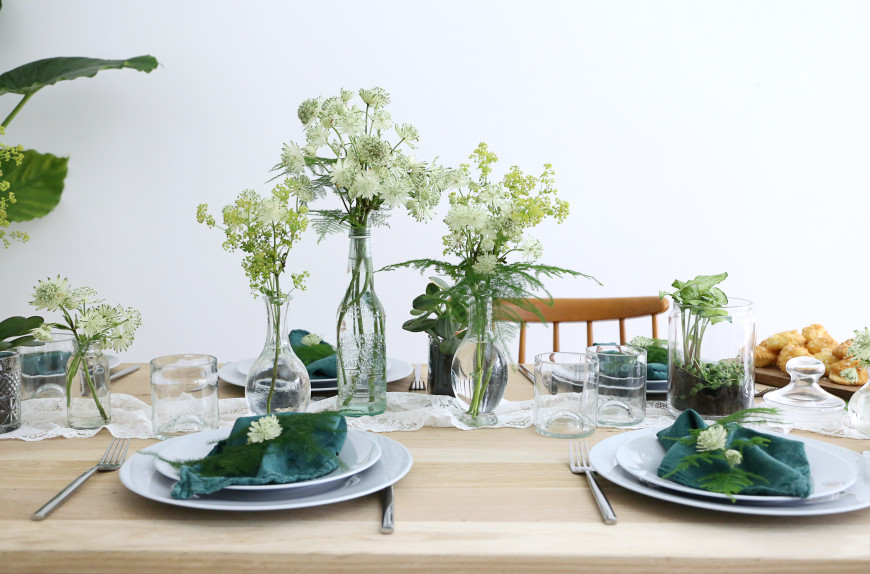 decoraiton kinfolk table verte mademoiselle claudine
