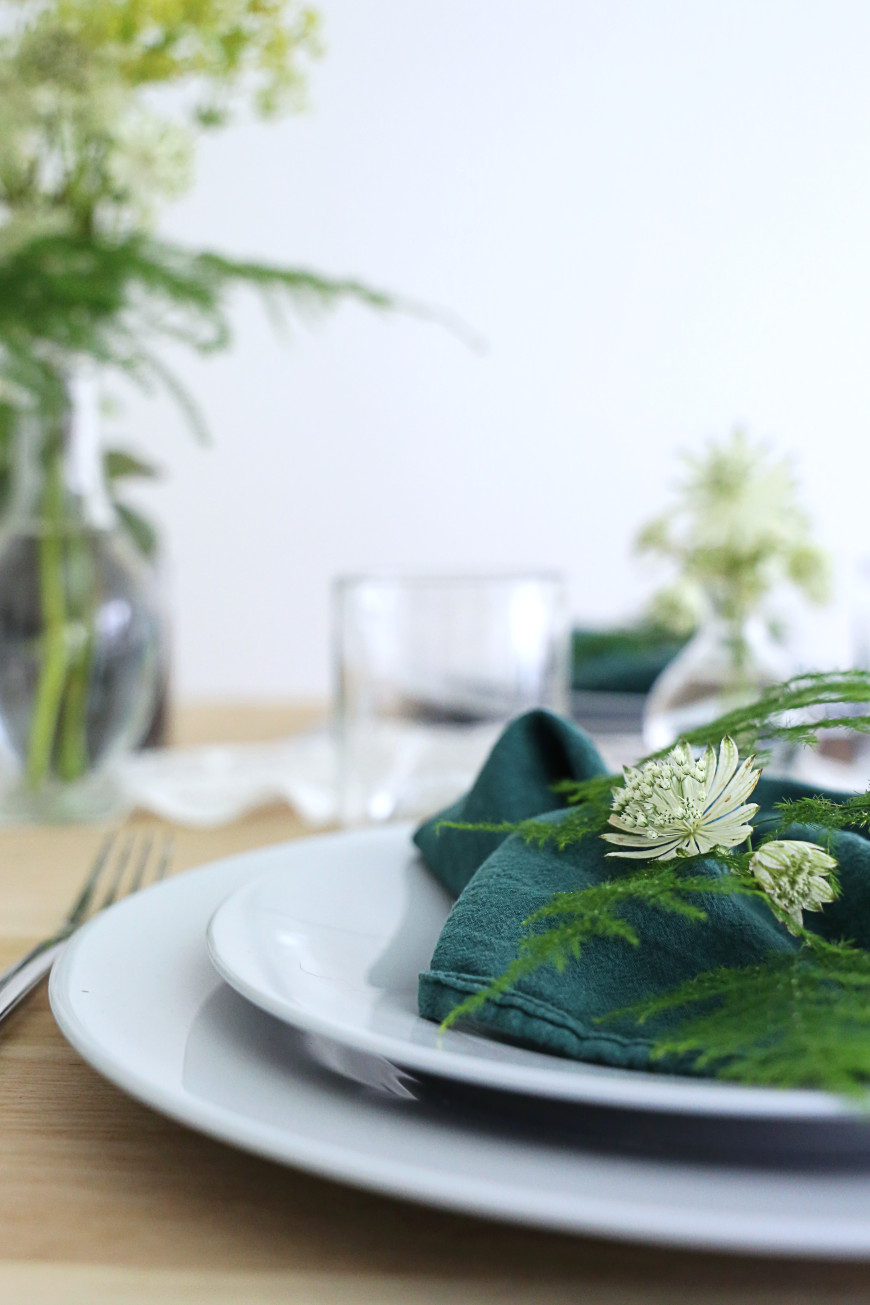 detail decoraiton de tale assiette luminarc fleurs mademoiselle claudine