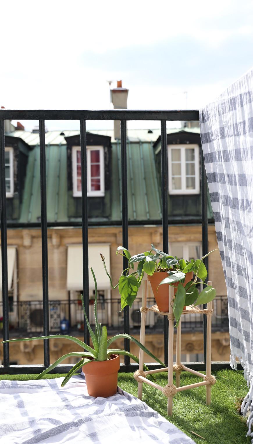 diy porte plante boheme mademoiselle claudine le blog. Black Bedroom Furniture Sets. Home Design Ideas