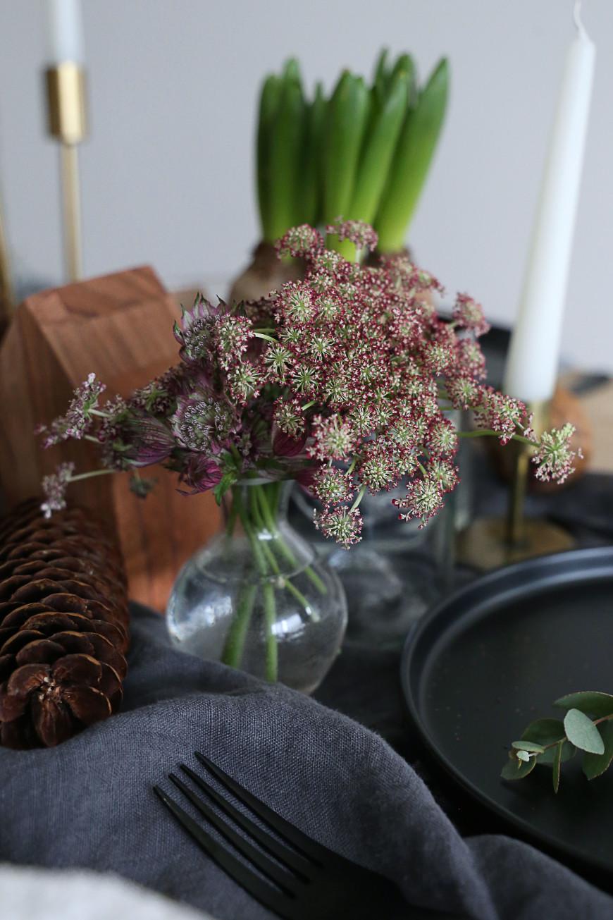 fleurs bordeau table noel mademoiselle claudine